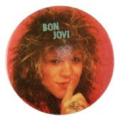Bon Jovi - 'Jon Shh!' 32mm Badge